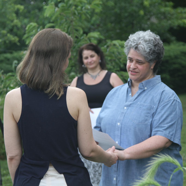 Wedding officiant for LGBTQ wedding